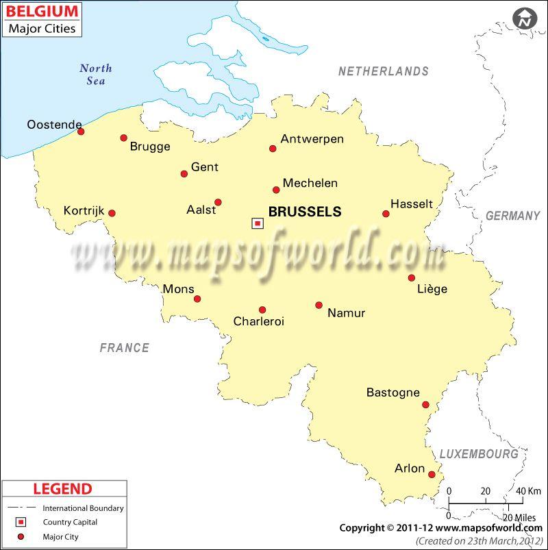 Belgium Cities Map Cities In Belgium Map Road Trip Europe Belgium