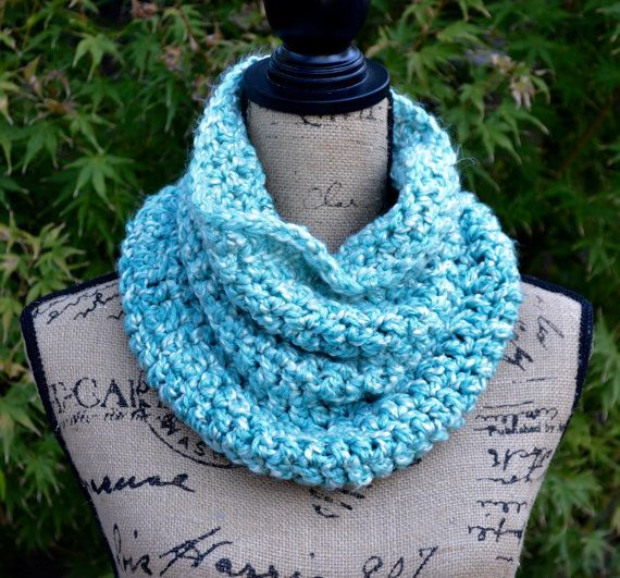Crochet Cowl Chunky Cowl Cowl Scarf by VintageCatCreations on Etsy