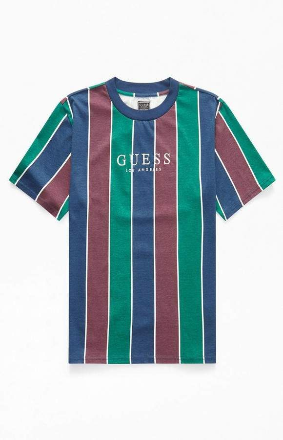 d58fab27e981 Guess Surfer Stripe T-Shirt | Products in 2019 | Shirts, Fashion, T ...