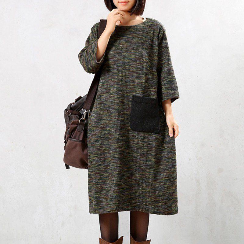 Autumn/Winter Knitted weater Dress
