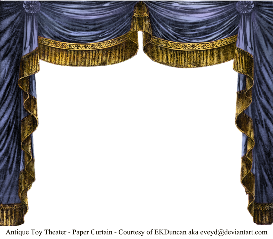 Paper Theater Curtain Saphire Theatre Curtains Paper Theatre Curtains