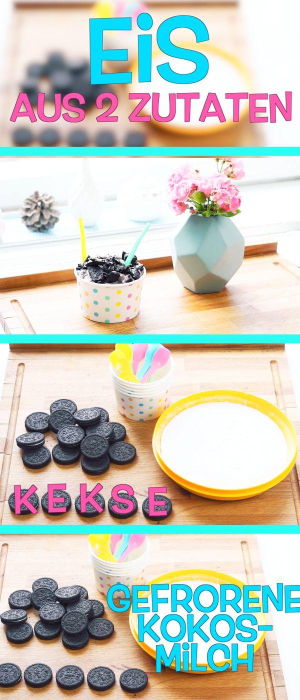 genial unser lieblings rezept f r den sommer eis selber machen aus nur 2 zutaten oreos und. Black Bedroom Furniture Sets. Home Design Ideas