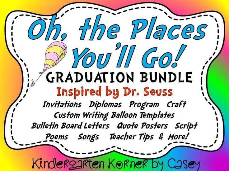 This Oh The Places Youll Go Graduation Program Mega