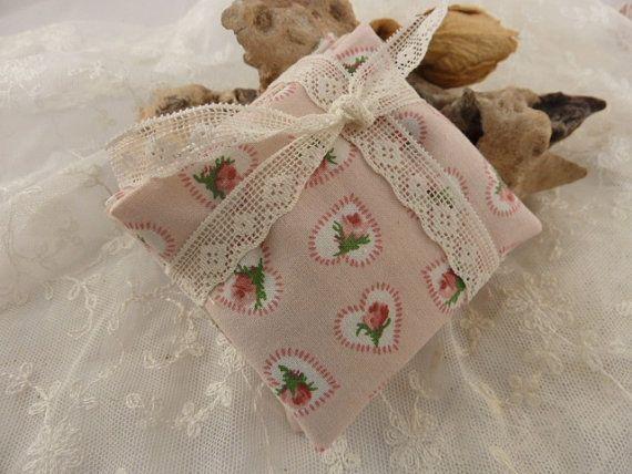 Lavender Sachets  Pillows set of Three  Pink Rosebuds by Krishenka, €10.00