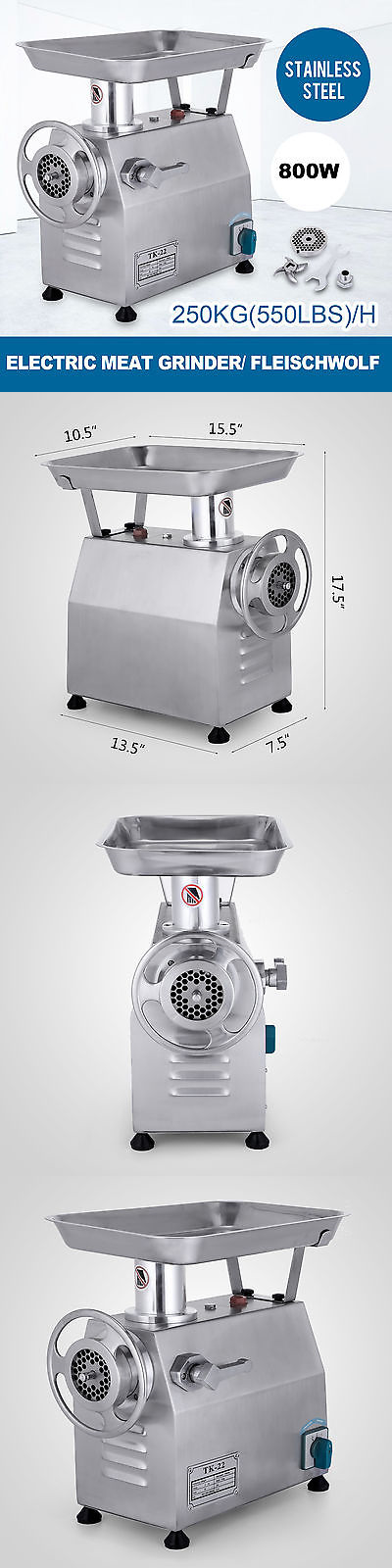 750W Steel Electric Meat Grinder Industrial Food Mincer Sausage Maker Kitchen