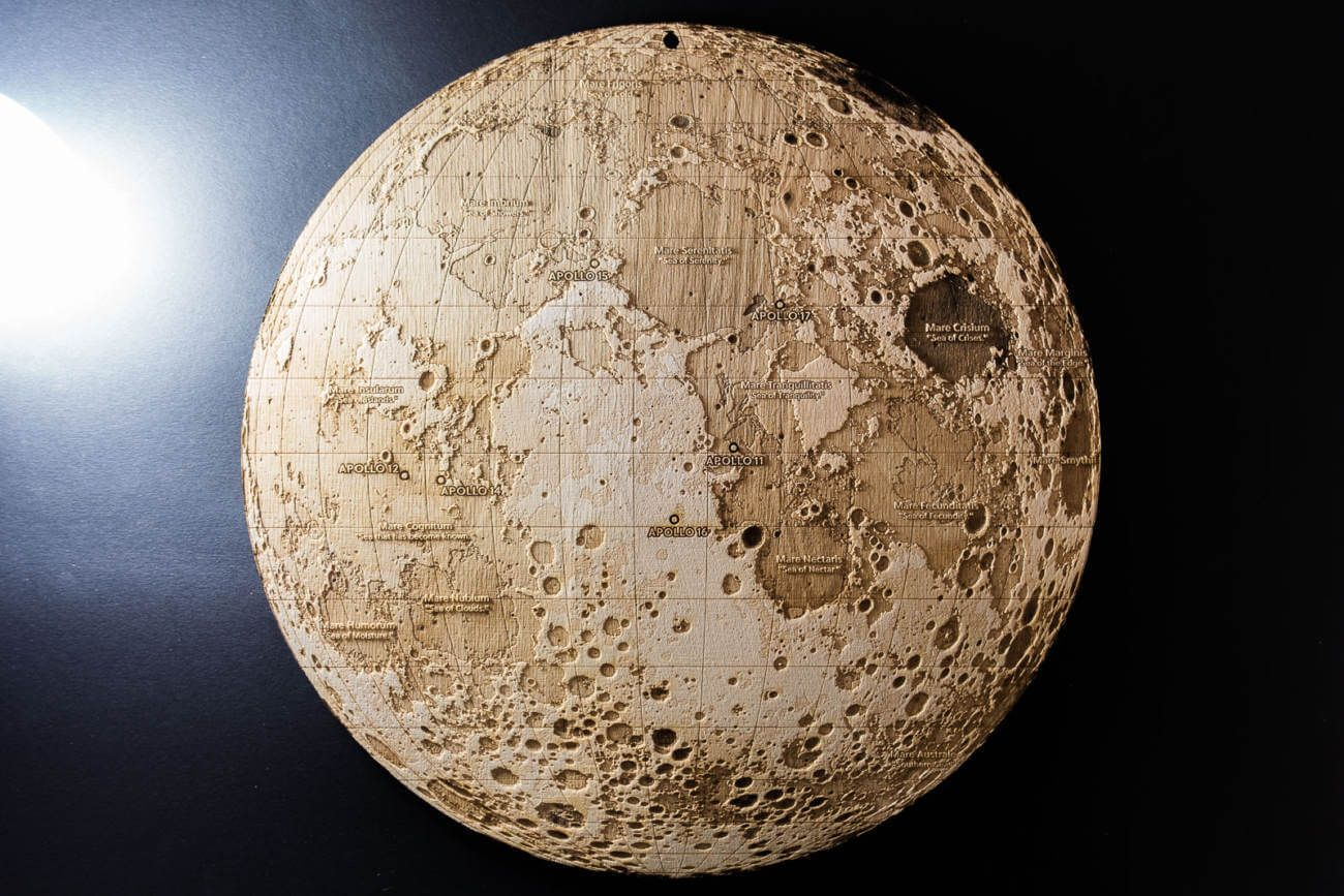 Topographic Map Of The Moon