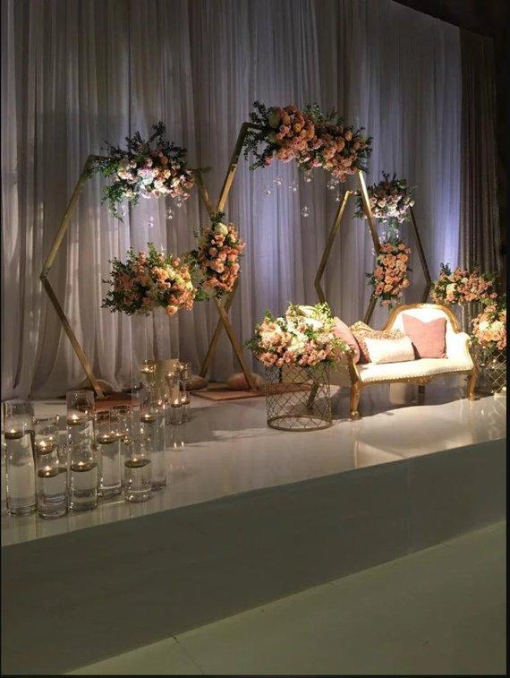Hexagonal Arch Wood Hochzeit Arbor Arch Hochzeit Dekor Hochzeit | Etsy   – Weddings