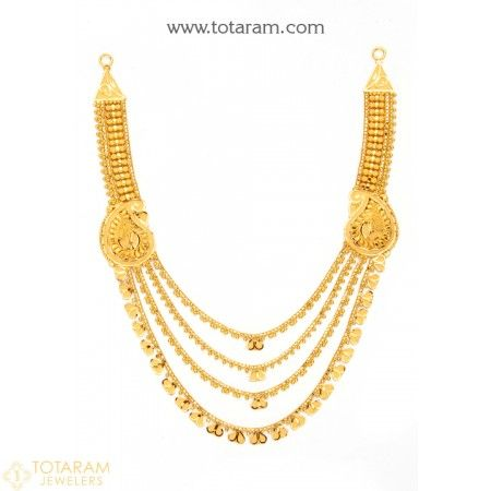 99cf5a635 22K Gold Necklace for Women - 235-GN2295 - Buy this Latest Indian Gold  Jewelry Design in 22.050 Grams for a low price of $1,193.65