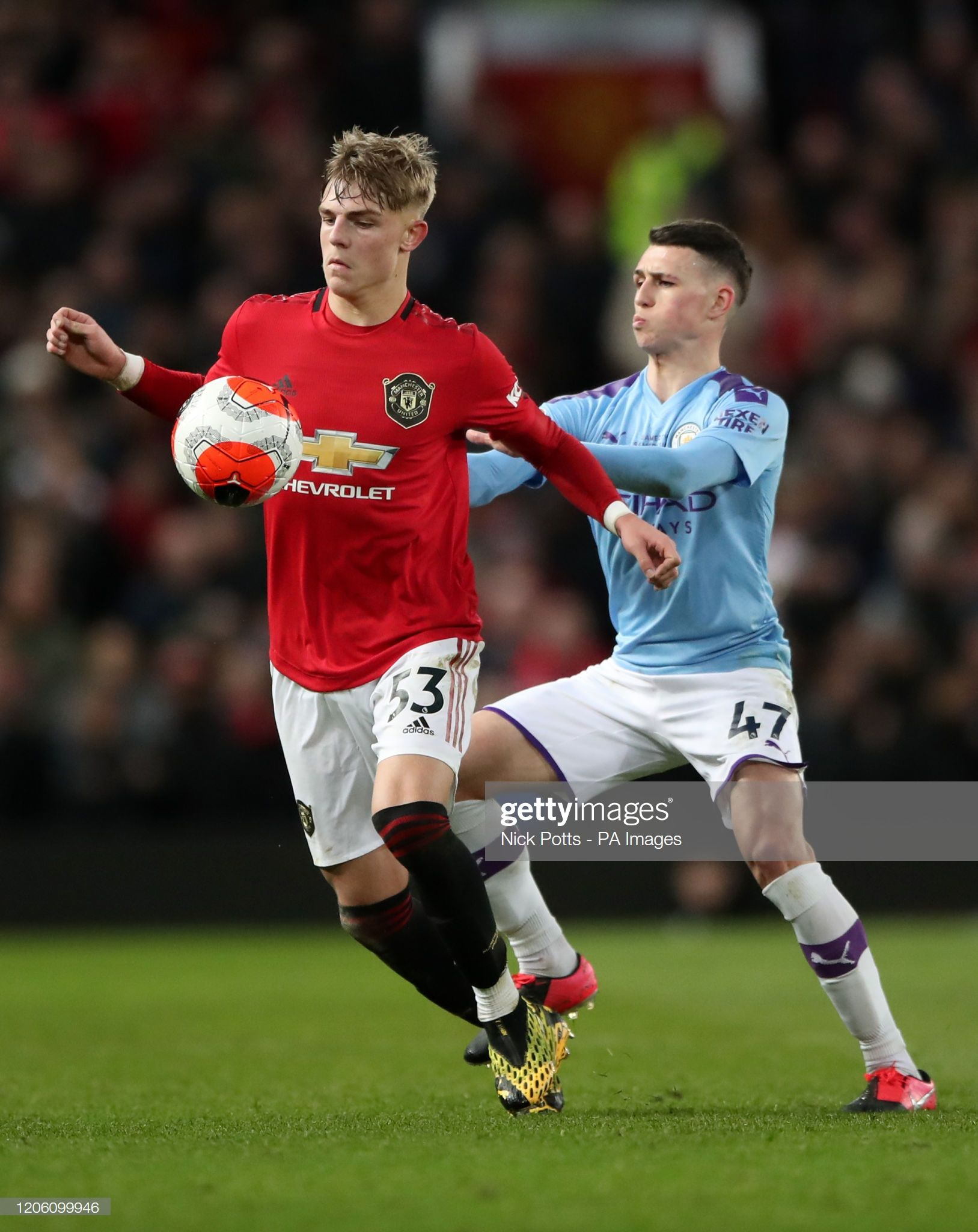 Manchester United S Brandon Williams And Manchester City S Phil Foden In 2020 Manchester United Players Manchester United Brandon Williams