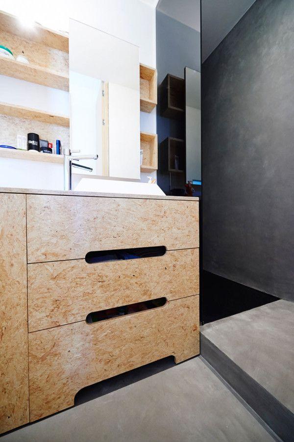 A Brussels Apartment Gets A Renovation Osb Furniture Chipboard Interior Osb