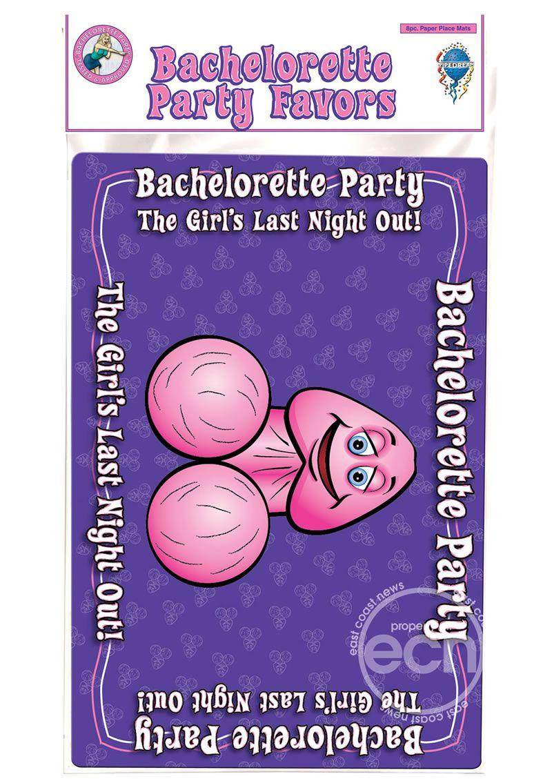 Bachelorette place mats 8pk disc decorate your table