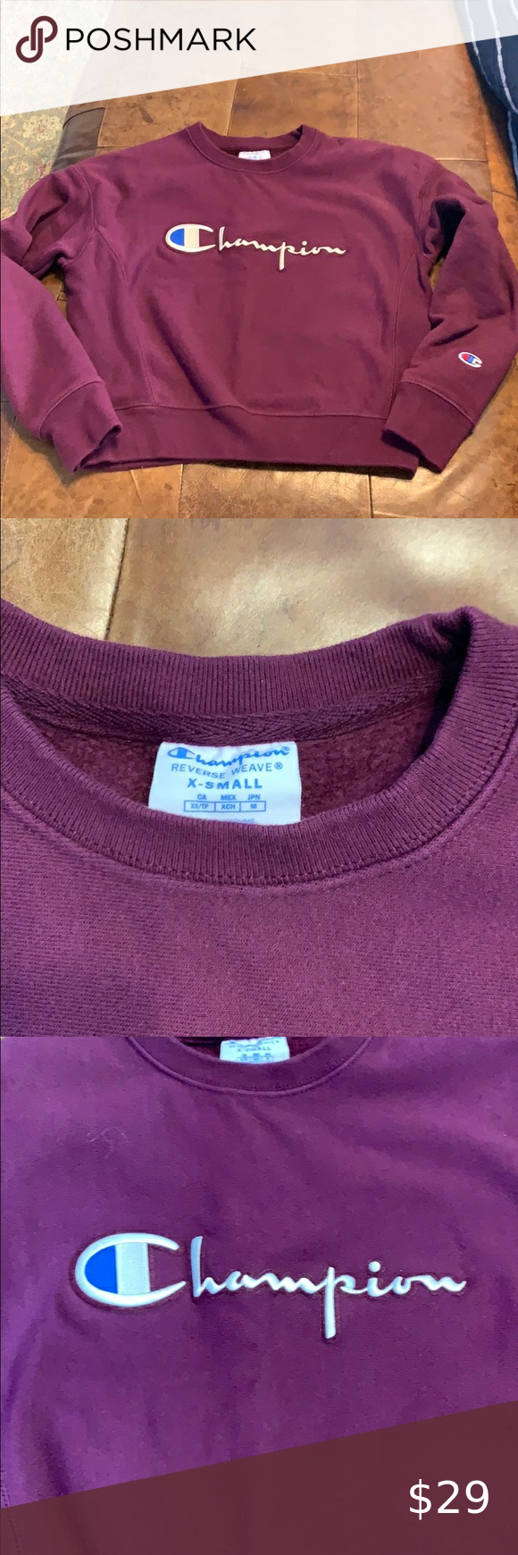 Champion Reverse Weave Sweatshirt Burgundy Women S Xs 20 5 Long Kinda Cropped From Urban Champion Reverse Weave Sweatshirt Sweatshirts Champion Reverse Weave [ 1740 x 580 Pixel ]