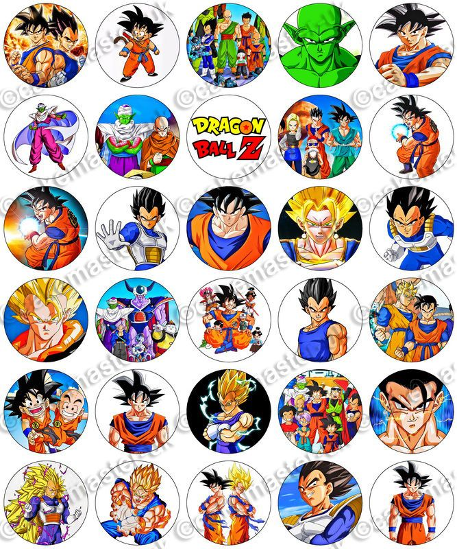 Dragon Ball Z Cake Decorations Amusing 30 X Dragon Ball Z Party Edible Rice Wafer Paper Cupcake Toppers Design Ideas