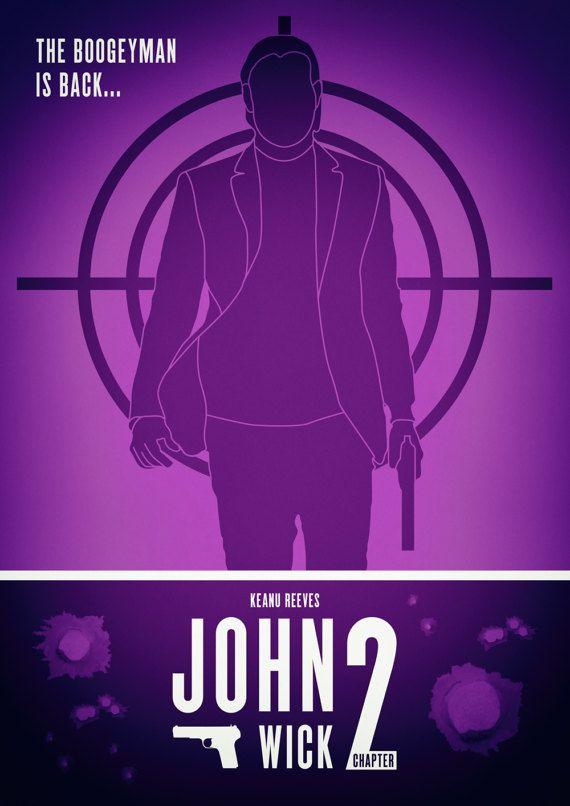 John Wick Chapter 2 Movie Poster Keanu By Extremepandadesign Watch