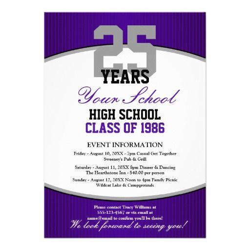 class reunion invitation letter | Class Reunion Flyer | 70th ...
