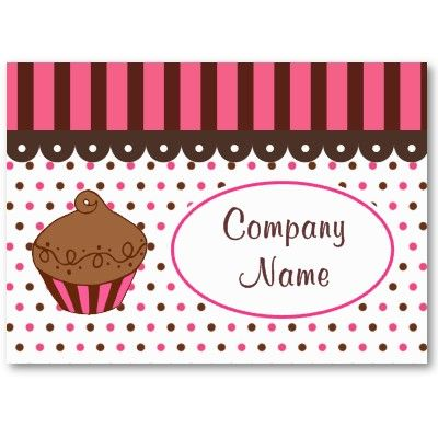 Cupcake bakery business cards bakery business cards bakery cupcake bakery business cards reheart Image collections