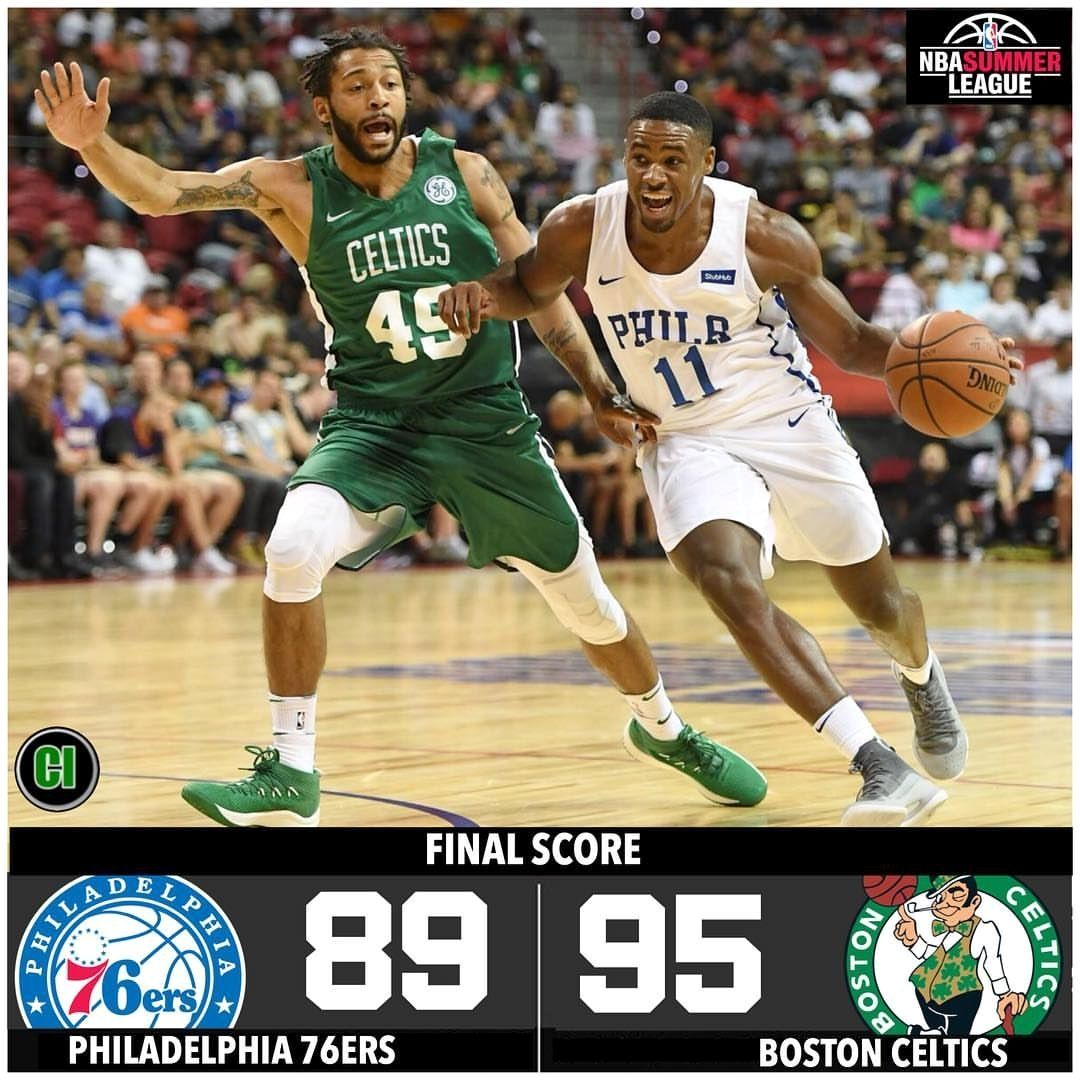 The Celtics defeat the 76ers 95-89 in the Summer League opener! Semi Ojeleye and Guerschon Yabusele both finished with 16 points while Jabari Bird had 14 points.  #Boston #Celtics #BostonCeltics #NBA #Basketball #GoCeltics #CelticsNation #CelticsPride #BleedGreen #GreenRunsDeep #Philadelphia #76ers #Sixers #Philadelphia76ers #SummerLeague #NBASummerLeague ____________________________________________________  Great pic :o   Double tap & tag your friend Love it  Follow us for more  pictures  via @celtics_illustrated #questfor18 #terryrozier #bostoncelticsforlife #celticsvsraptors #beatthecavs #celticsuruguay #prayforhayward