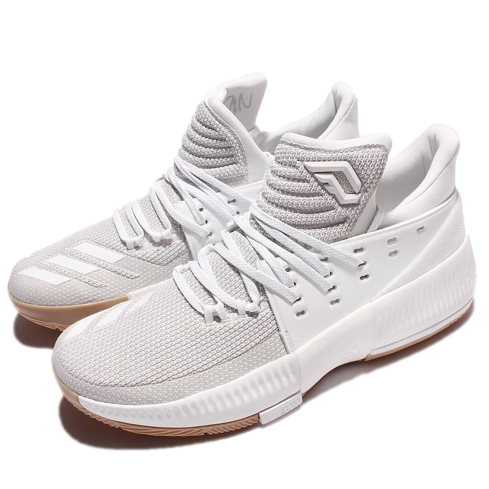 new product 6c023 28cab adidas D Lillard 3 Damian Lillard Legacy White Gum Men Basketball Shoes  BW0323