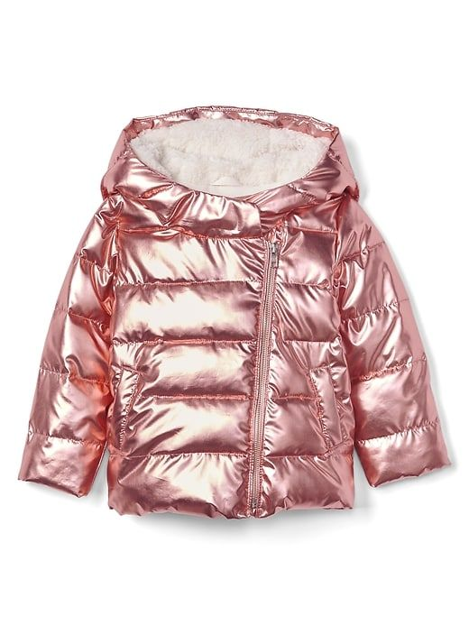 f05184e9d00e Gap Baby Cozy Rose Gold Puffer Jacket Pure Pink