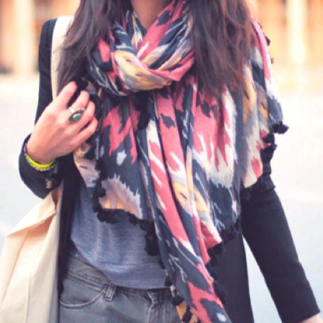 Big colorful scarves!