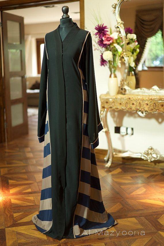 Al Mazyoona Black Embroidered Party Wedding Bisht Abaya Dubai Arabic Jalabiya Khaleeji Kaftan Maxi Abayas Fashion Abaya Designs Abaya Fashion