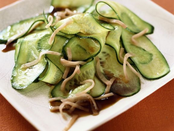 Asiatischer Gurkensalat Rezept Gurkensalat Asiatischer Gurkensalat Fettarm Kochen