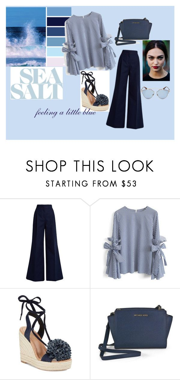 """""""blue ocean"""" by lejlaa-limic ❤ liked on Polyvore featuring MSGM, Chicwish, Kate Spade, Michael Kors, Christian Dior and Trendy"""