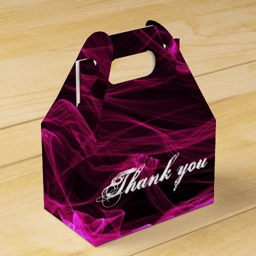 Purple Thank you Party Favor Box