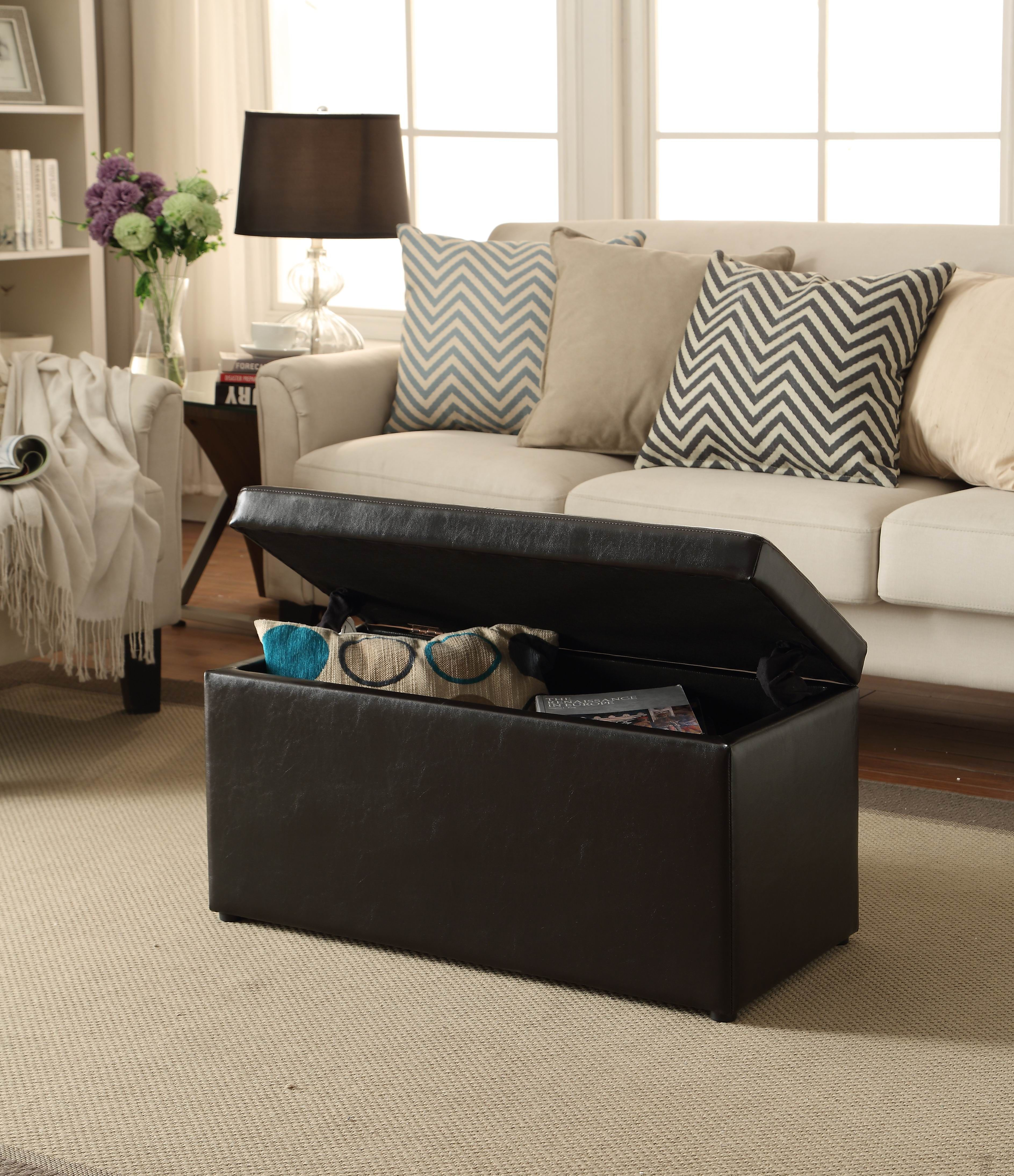 d11820660d0121249a2a9906c98e6122 - Better Homes And Gardens 30 Hinged Storage Ottoman Brown