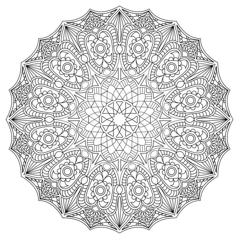 Mandala Madness Coloring Book No 7 Printable Coloring Pages Etsy In 2020 Mandala Coloring Pages Mandala Coloring Designs Coloring Books
