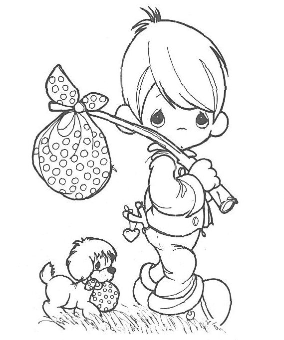 Free Printable Precious Moments Coloring Pages For Kids Moldes E