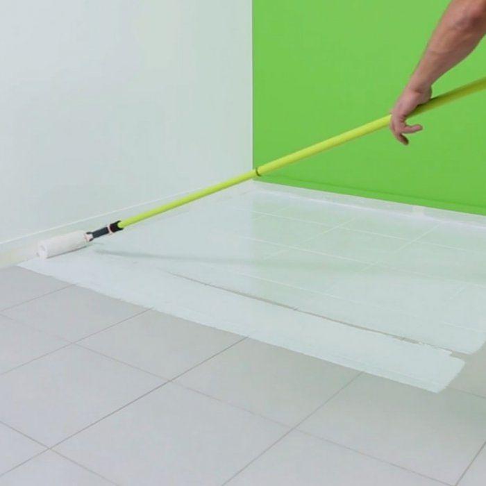 Peindre un sol en carrelage  les étapes à suivre - peindre du ciment au sol