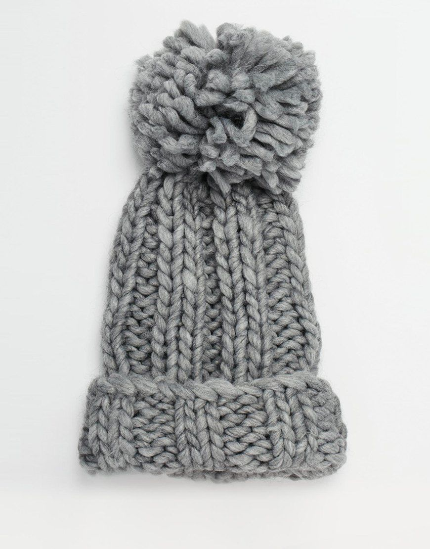 19989051d19 Image 3 of ASOS Extra Chunky Beanie With Extra Large Pom ...