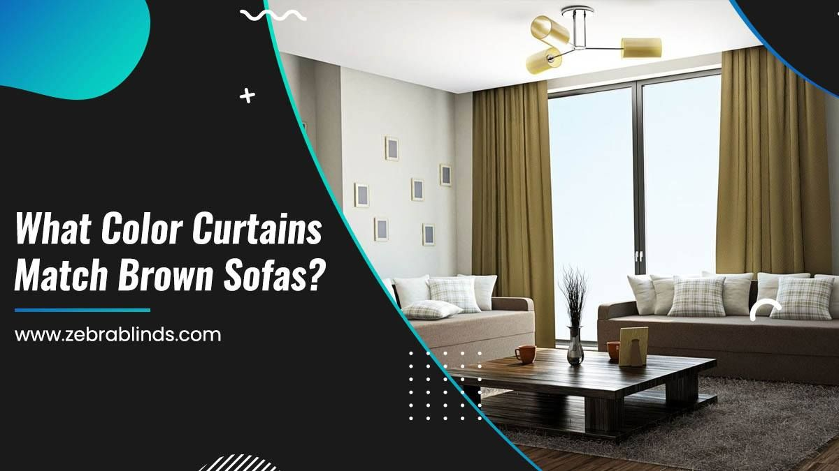What Color Curtains Match Brown Sofas? in 2020 Brown