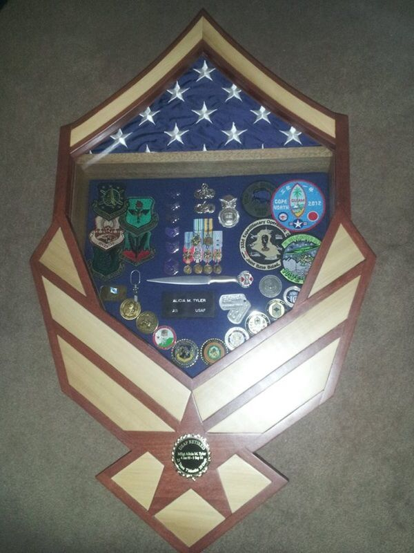 MSgt - Air Force shadow box | Woodcraft | Pinterest | Shadow box, Air force and Box