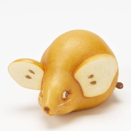 Amazon Com Home Grown From Enesco Pear Mouse Figurine 2 In Home