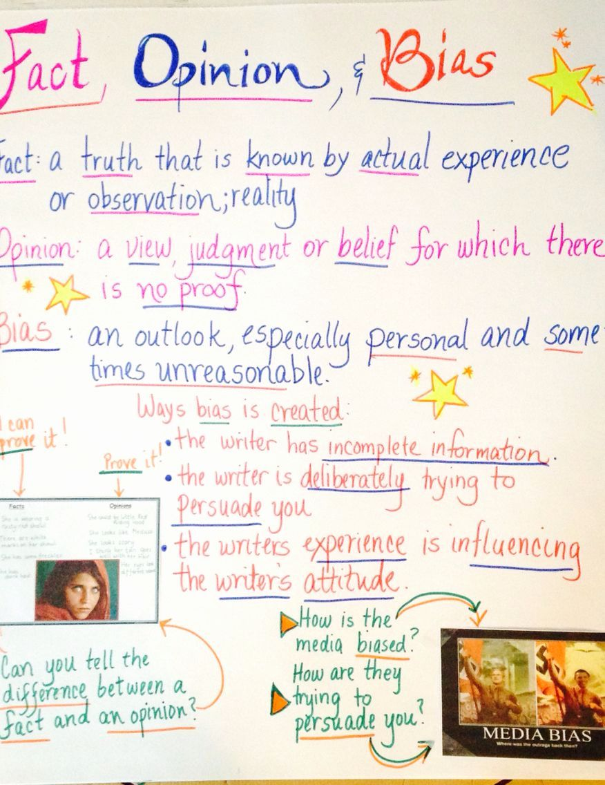 Bias Worksheet Middle School Lovely Fact Opinion And Bias Anchor Chart Fact And Opinion Writing Worksheets Anchor Charts Opinion and fact worksheets