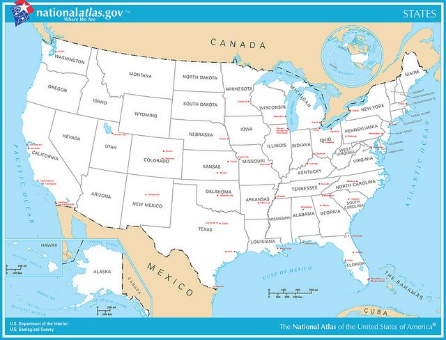 Quizlet United States Map National Parks Usa Usa Map