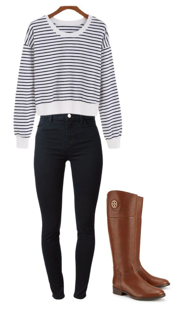 """Untitled #255"" by samantha-benjamin on Polyvore featuring J Brand and Tory Burch"