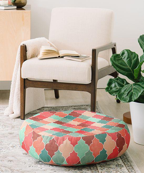 Jacqueline Maldonado Morocco Teal & Rust Floor Pillow