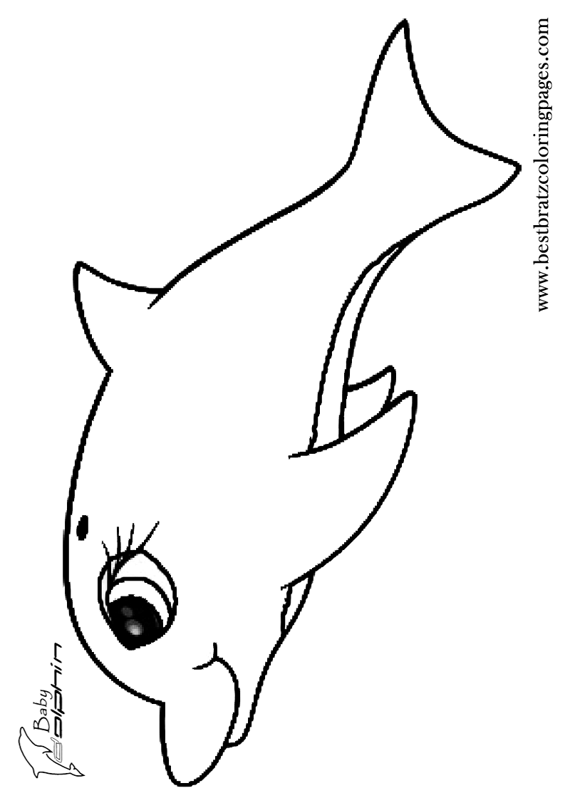 Baby Dolphin Coloring Pages Bratz