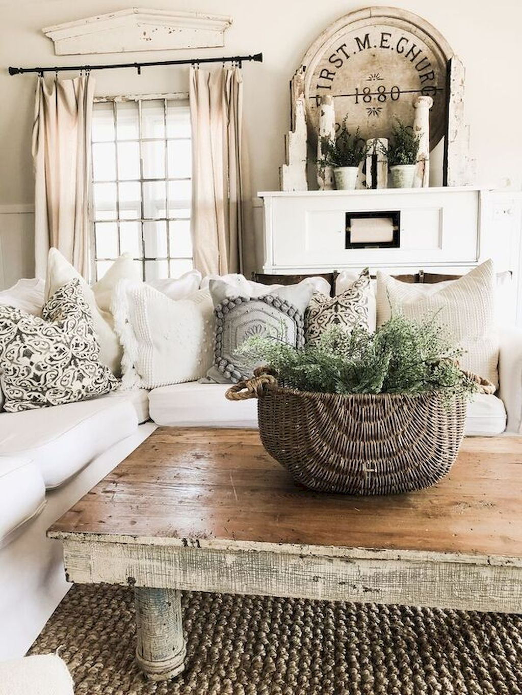 DIY Farmhouse Living Room Decor Part 30 Living