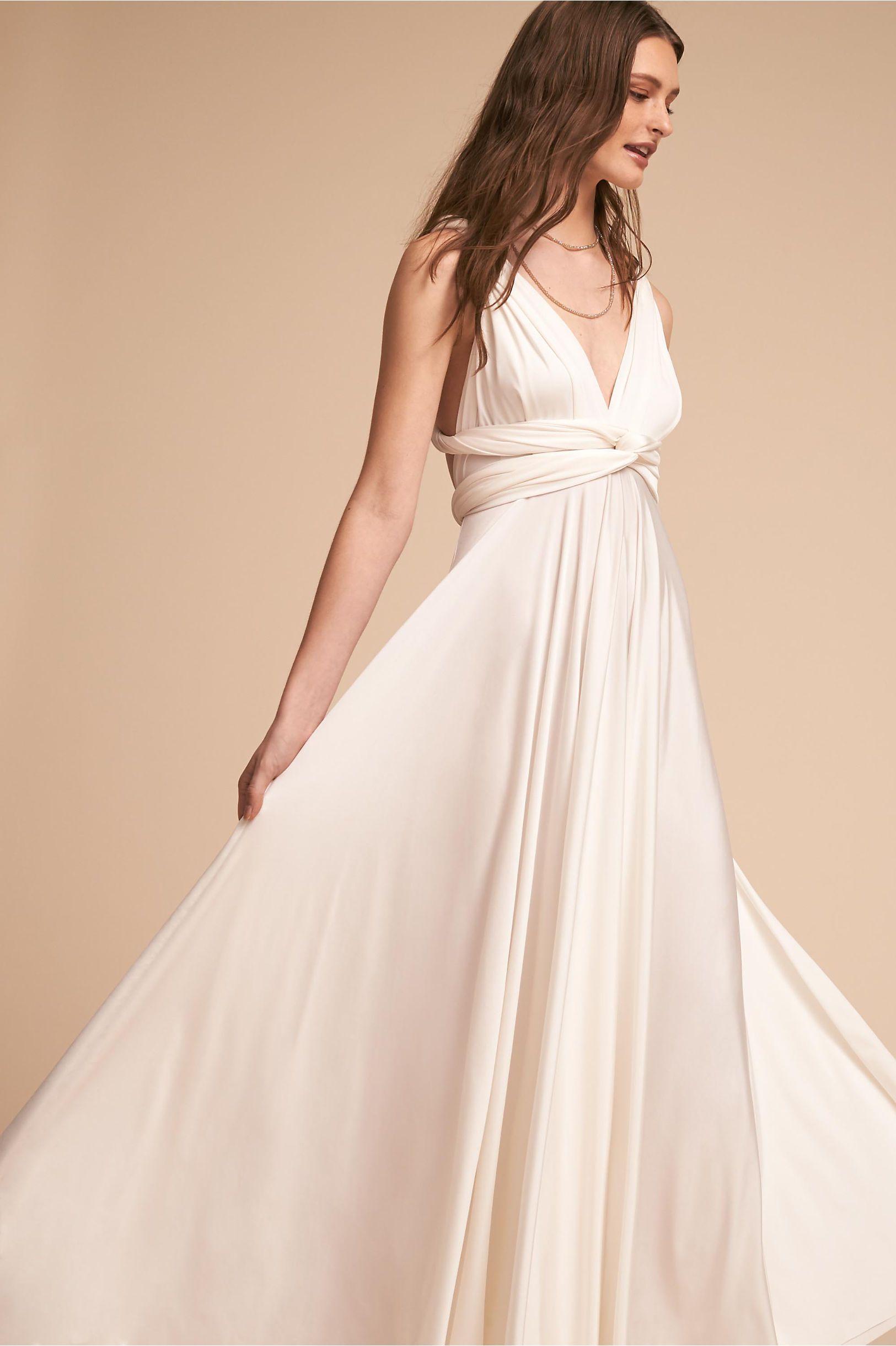 Bhldn ginger convertible maxi dress white in bride bhldn wedding