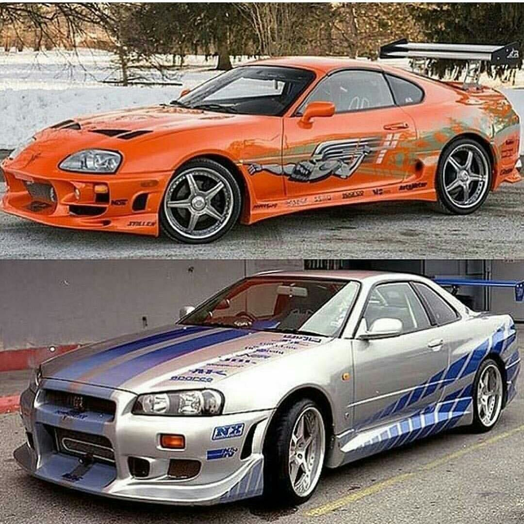 Paul Walker Drove The Toyota Supra (top) And The Nissan