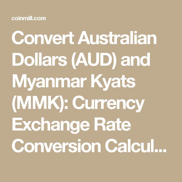 Convert Australian Dollars Aud And