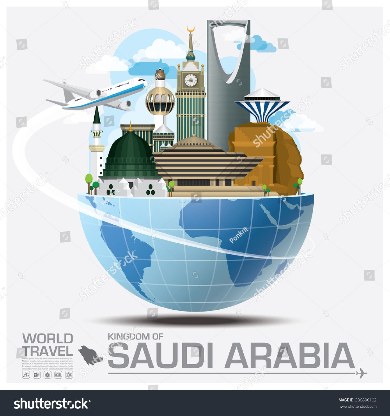 Kingdom Of Saudi Arabia Landmark Global Travel And Journey Infographic Vector Design Template Sponsored In 2020 Vector Graphics Design Global Travel Design Template
