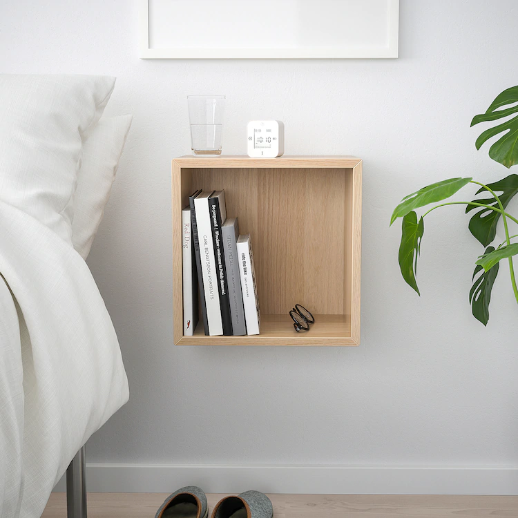 Eket Wall Mounted Shelving Unit White Stained Oak Effect
