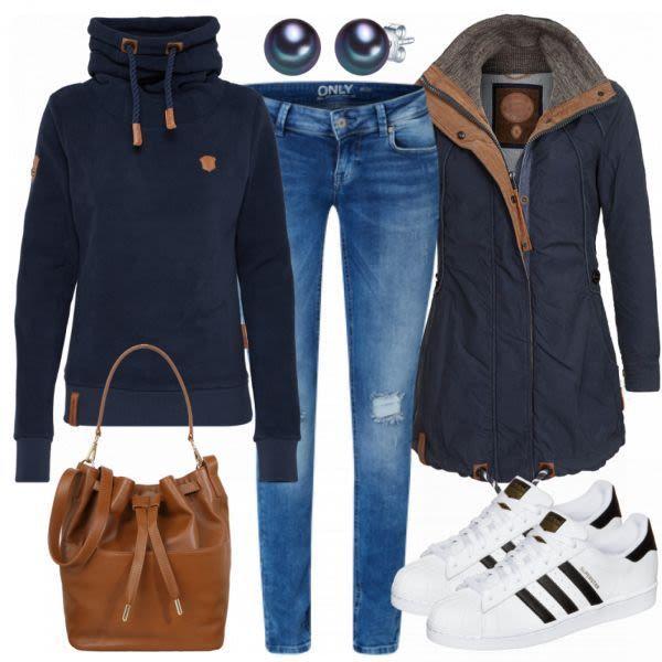 997004df5f8636 Indigo Damen Outfit - Komplettes Freizeit Outfit günstig kaufen |  FrauenOutfits... #damen #freizeit #gunstig #indigo #komplettes #outfit