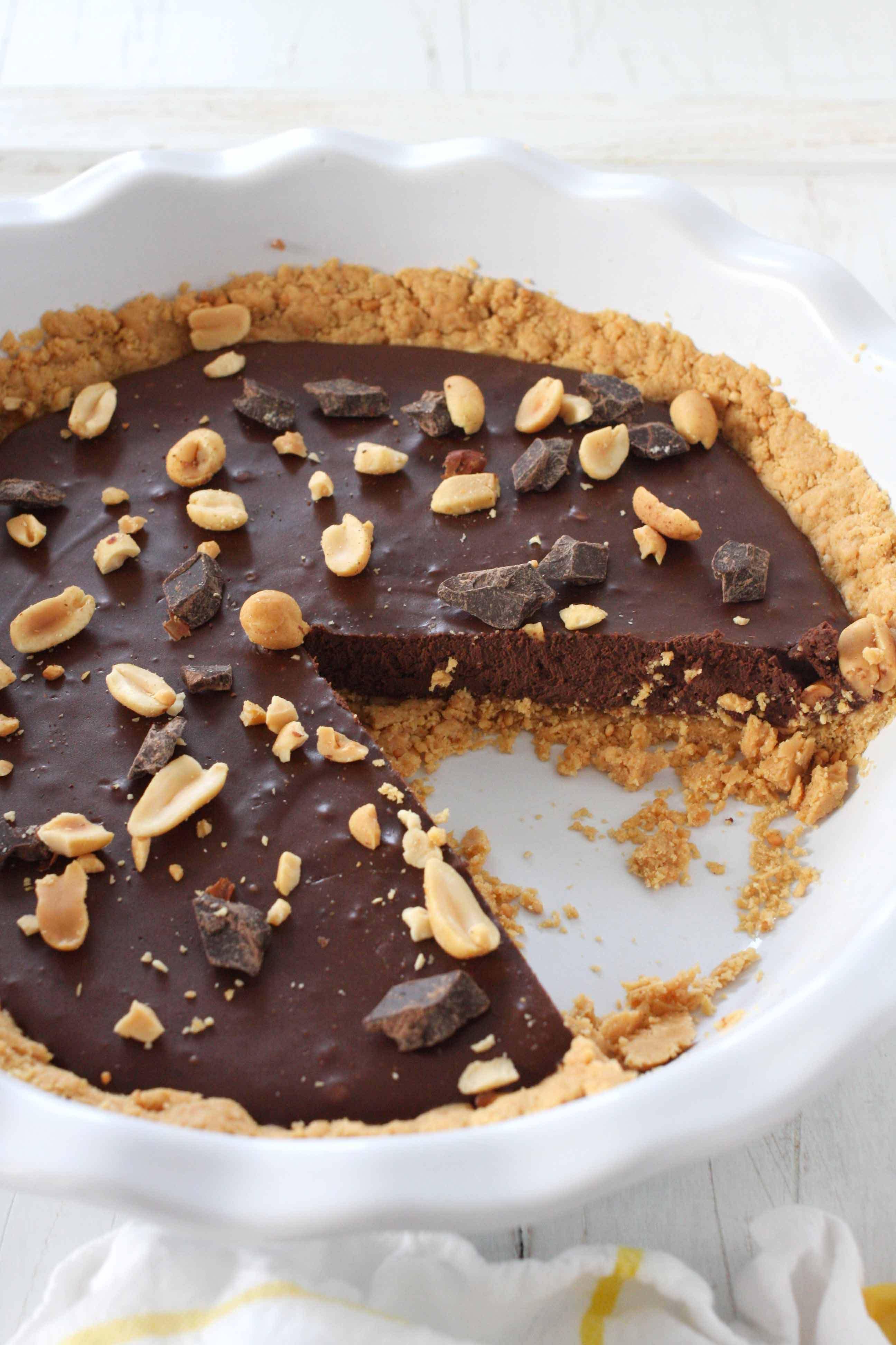 No Bake Chocolate Peanut Butter Pie