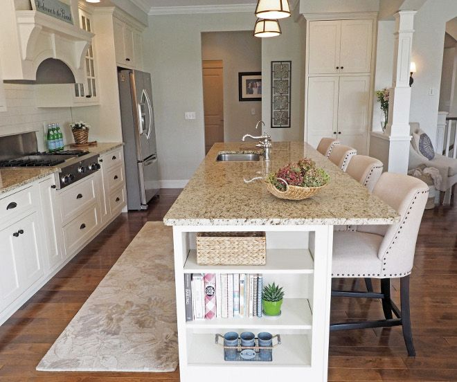 Bon Kitchen Island. Kitchen Island With Open Shelving. Kitchen Features Open  End Shelving On Island